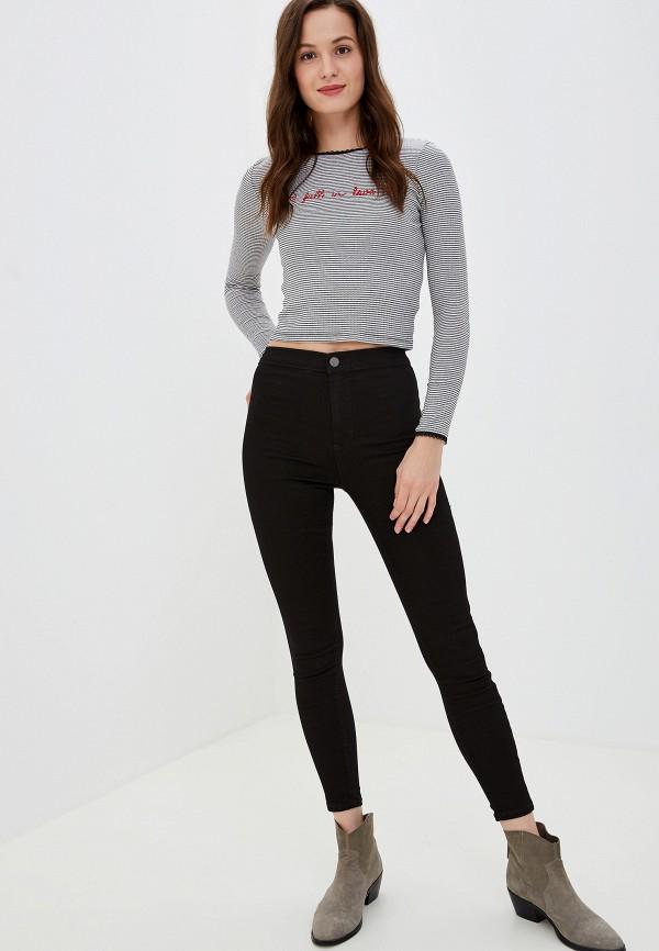 Фото 2 - женские джинсы Topshop черного цвета