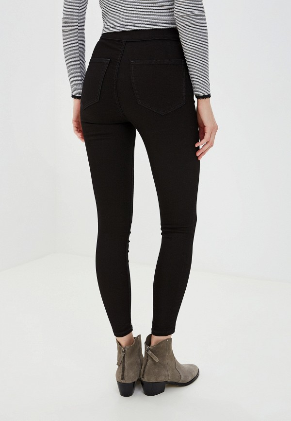 Фото 3 - женские джинсы Topshop черного цвета