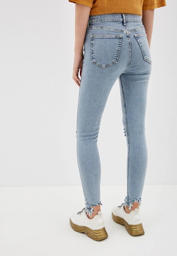 Фото 3 - женские джинсы Topshop голубого цвета