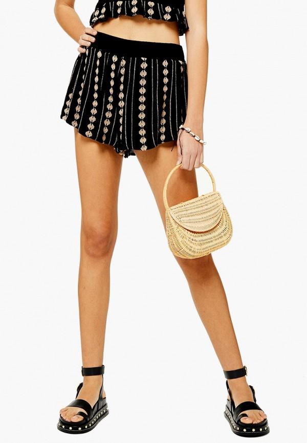 женские шорты topshop, черные