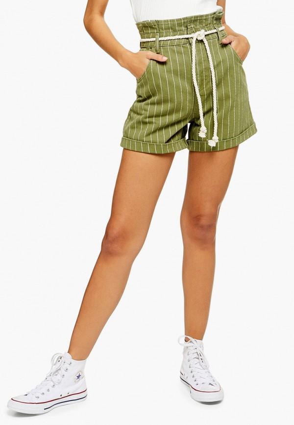 женские шорты topshop, зеленые