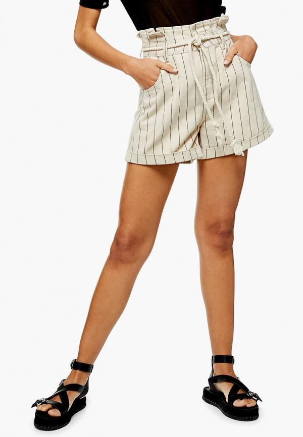 Фото 2 - Женские шорты Topshop бежевого цвета