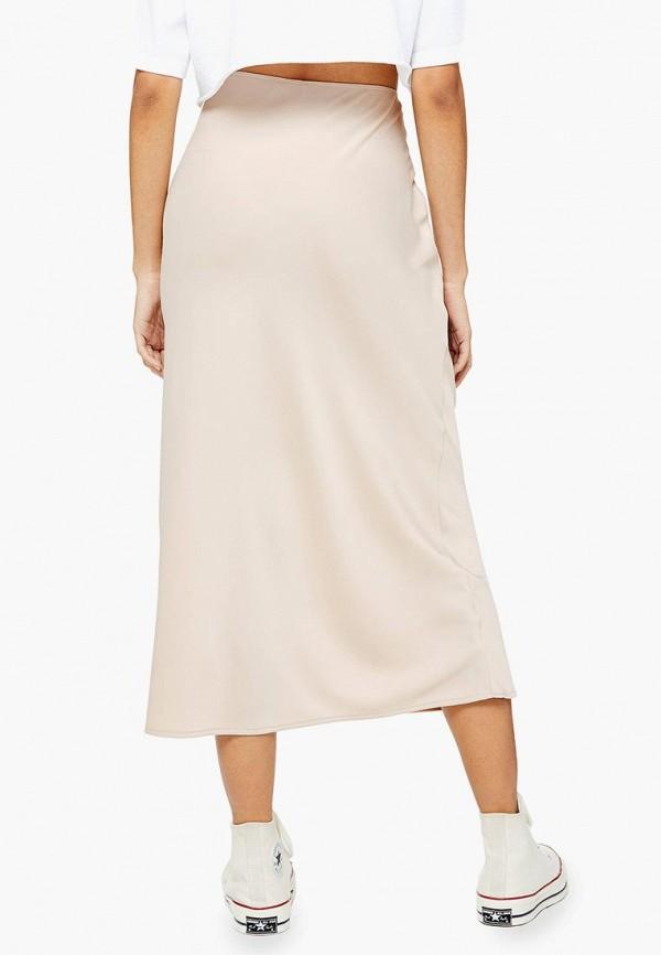 Фото 3 - Женскую юбку Topshop бежевого цвета
