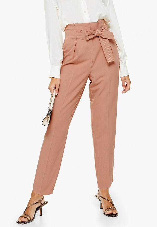 женские повседневные брюки topshop, розовые