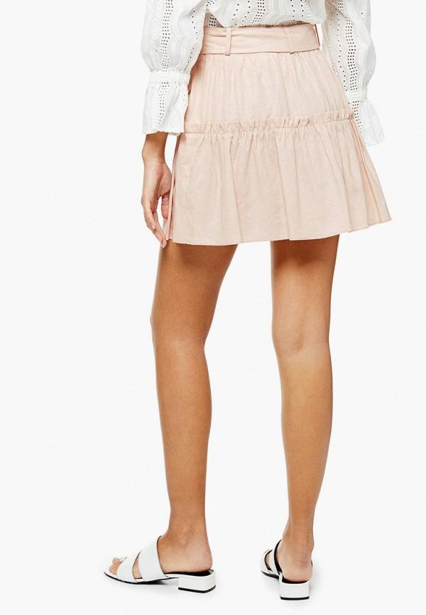 Фото 3 - Женскую юбку Topshop розового цвета