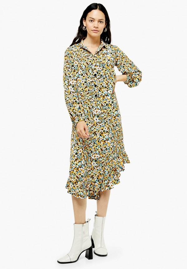 женское платье topshop, разноцветное