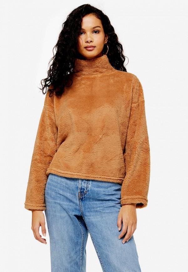 женский свитшот topshop, коричневый