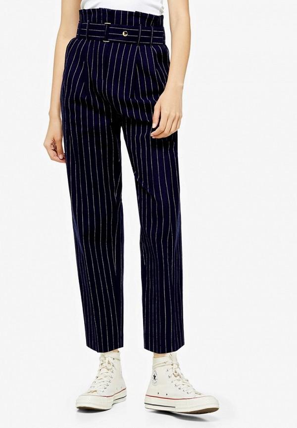 женские повседневные брюки topshop, синие