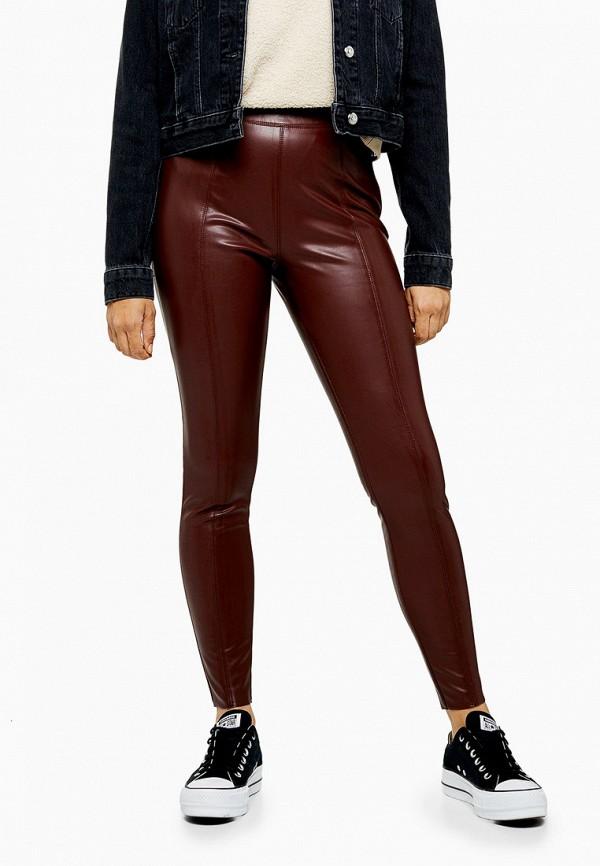 женские брюки topshop, бордовые