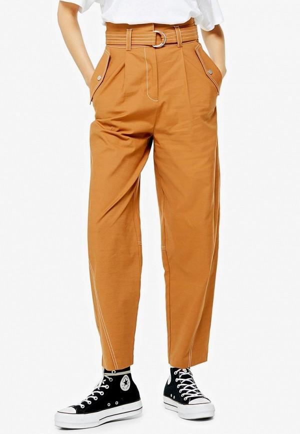 женские повседневные брюки topshop, желтые