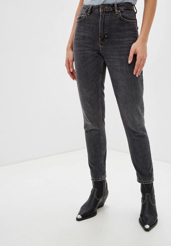 женские джинсы-мом topshop, серые