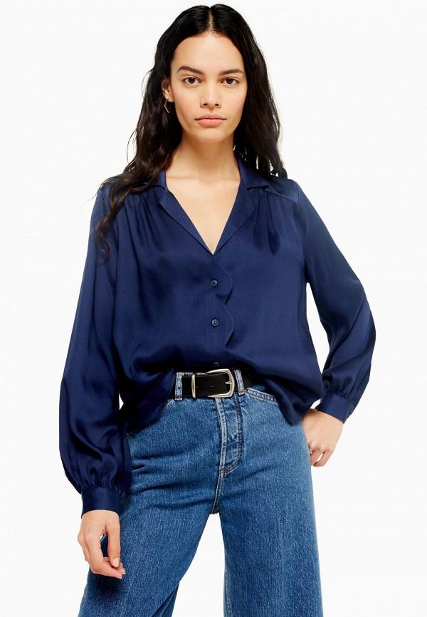 женская блузка topshop, синяя
