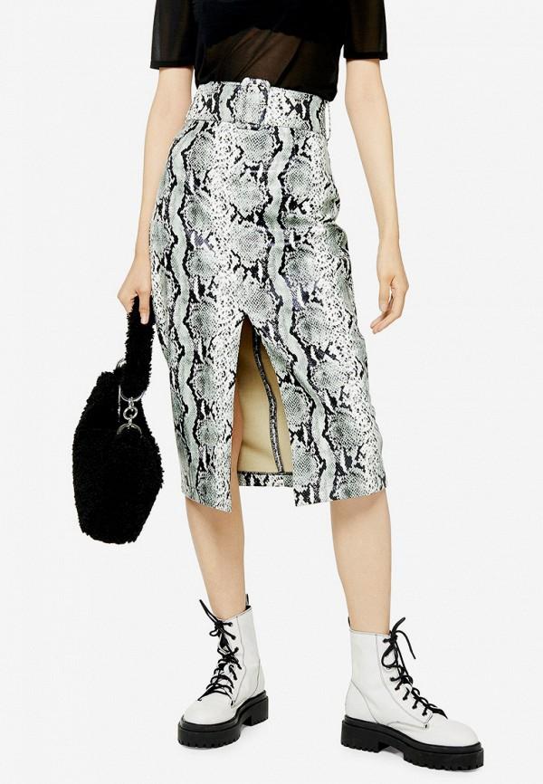 женская юбка topshop, серая