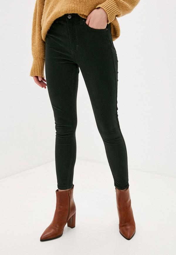 женские повседневные брюки topshop, зеленые