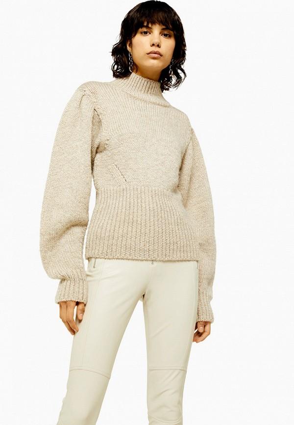 женский свитер topshop, бежевый