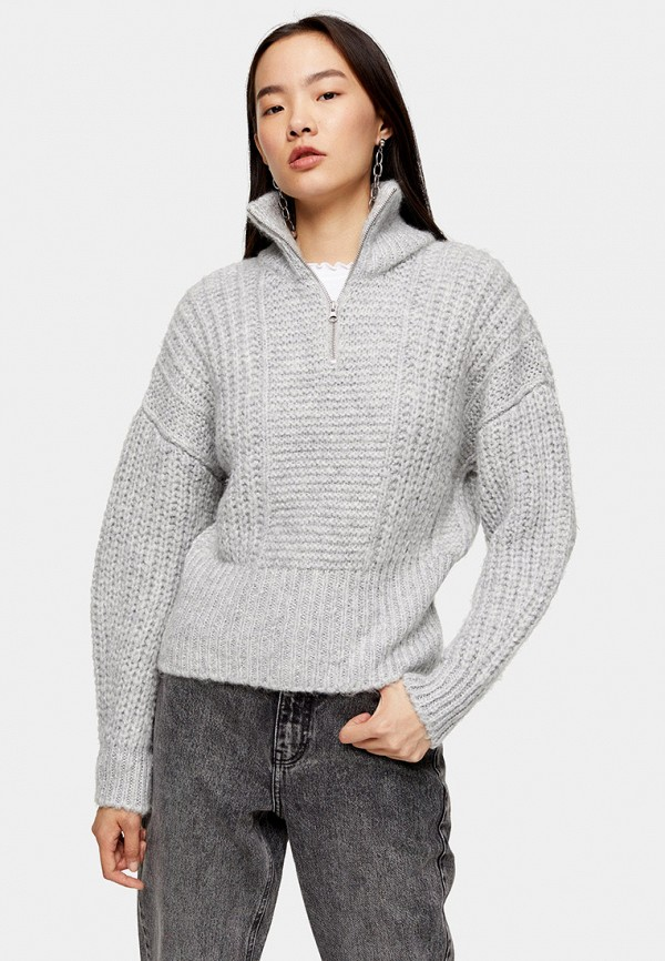 женский свитер topshop, серый