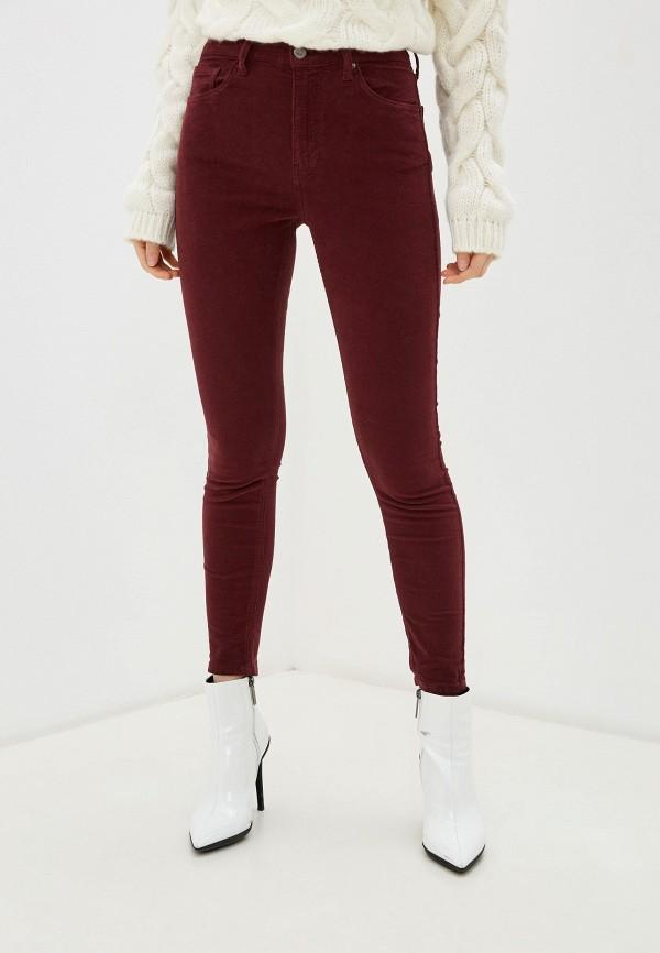 женские повседневные брюки topshop, бордовые
