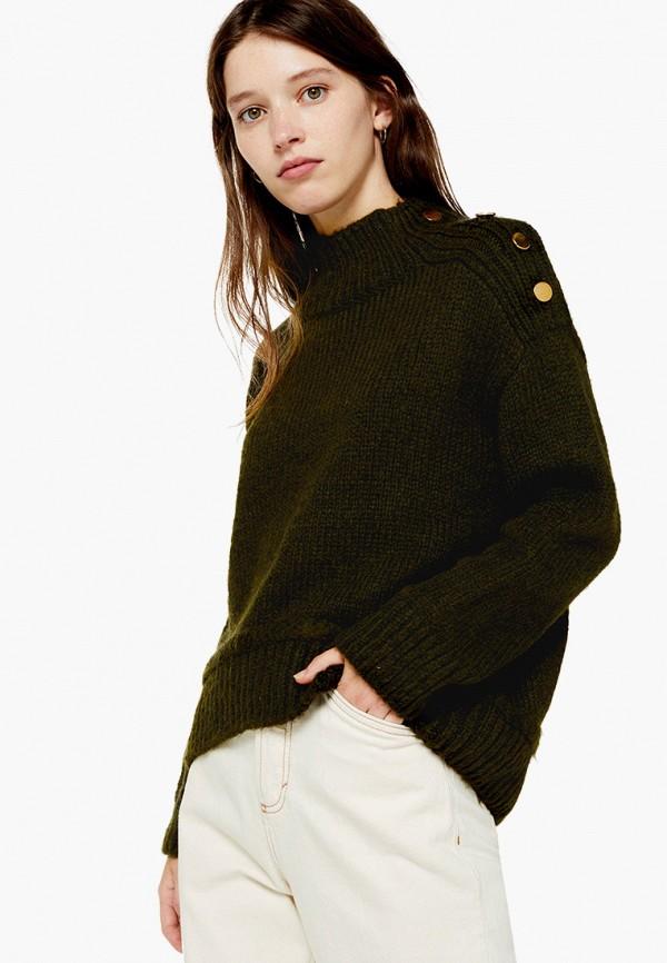 женский свитер topshop, хаки