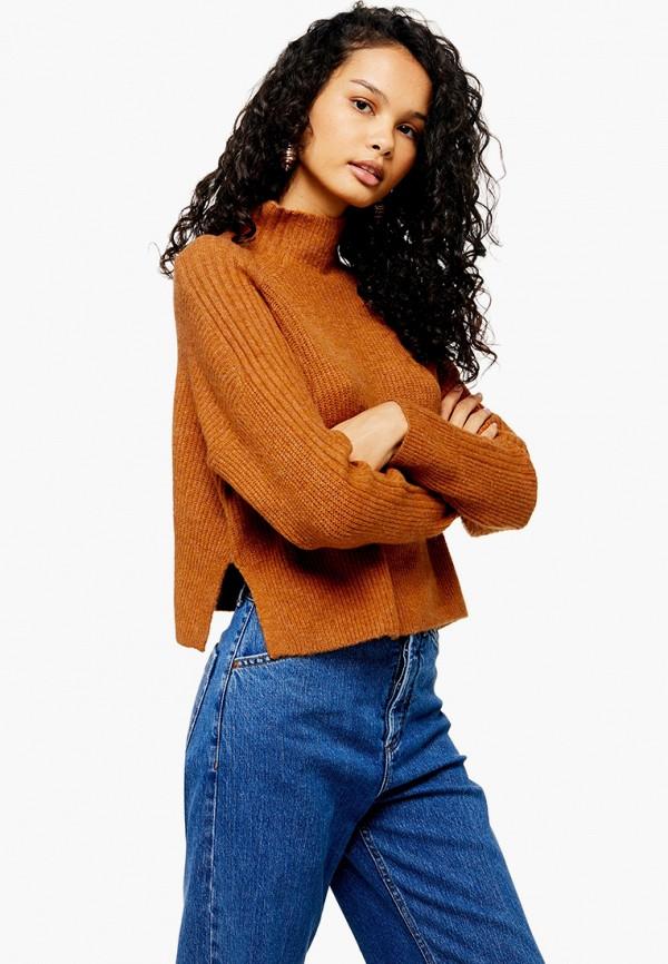 женский свитер topshop, оранжевый