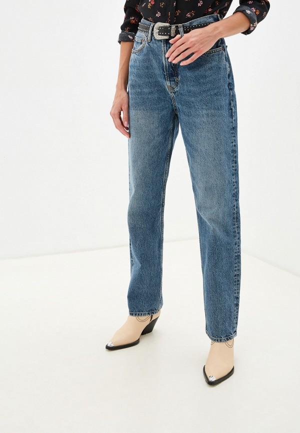 женские джинсы бойфренд topshop, синие