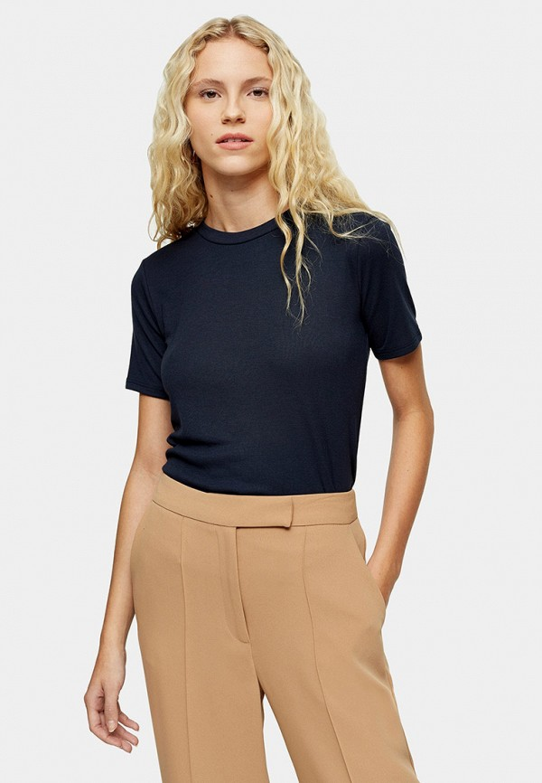 женская футболка topshop, синяя