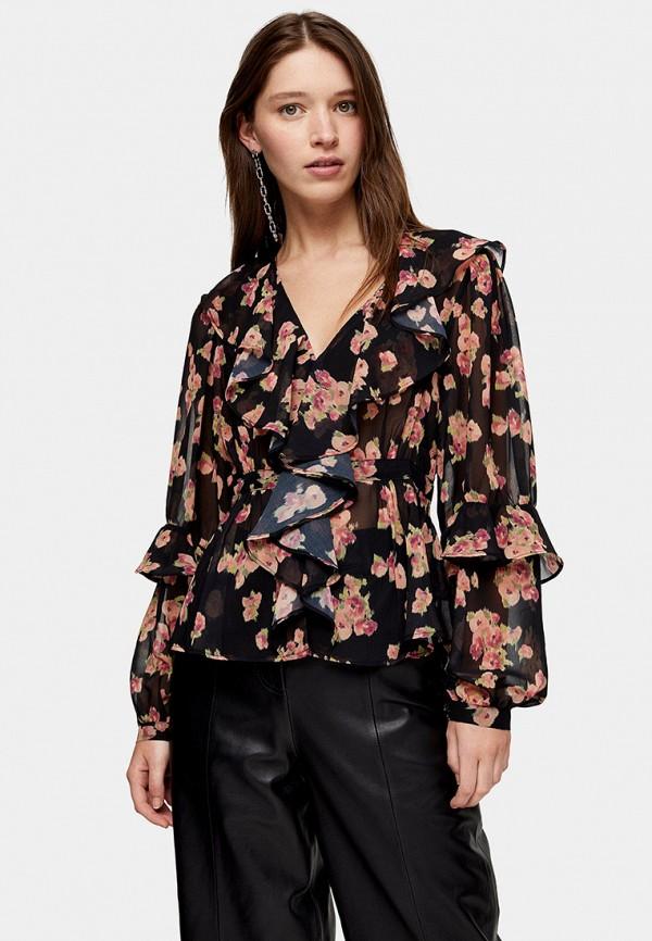 женская блузка topshop, черная