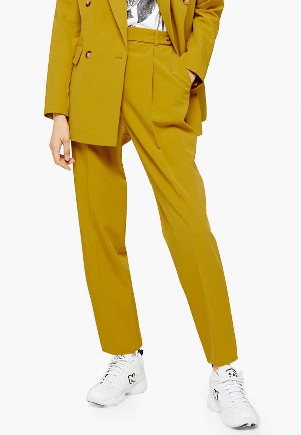 женские классические брюки topshop, желтые