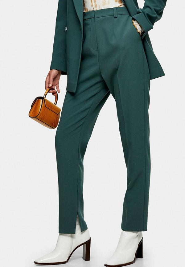 женские классические брюки topshop, бирюзовые