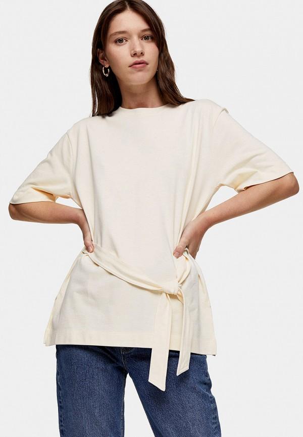 женская блузка topshop, бежевая
