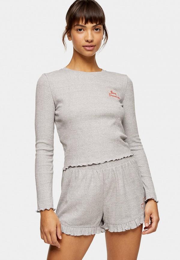 женская пижама topshop, серая