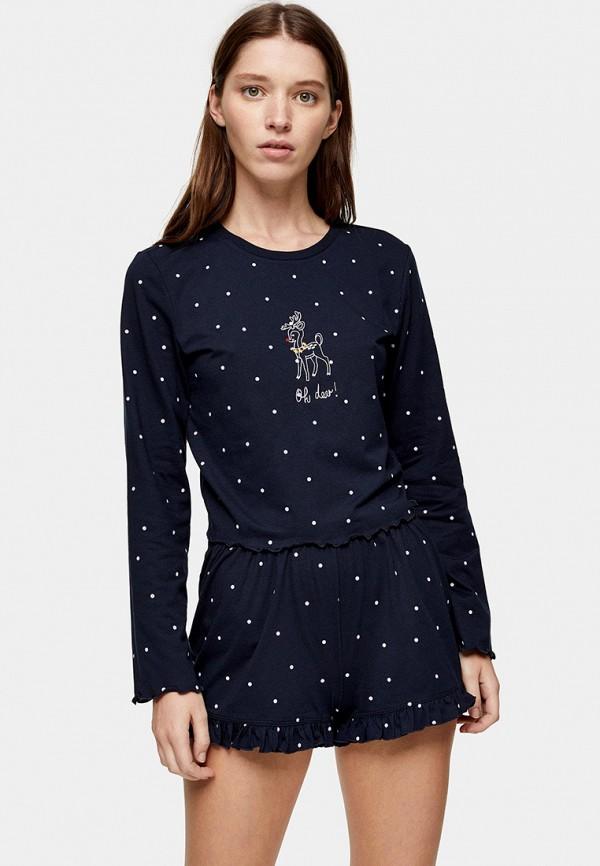 женская пижама topshop, синяя