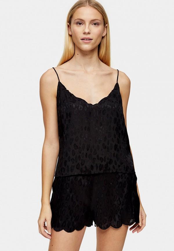 женская пижама topshop, черная