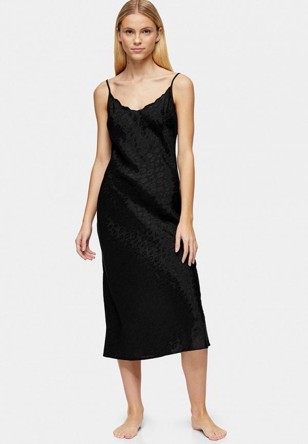 женские сорочка ночная topshop, черные