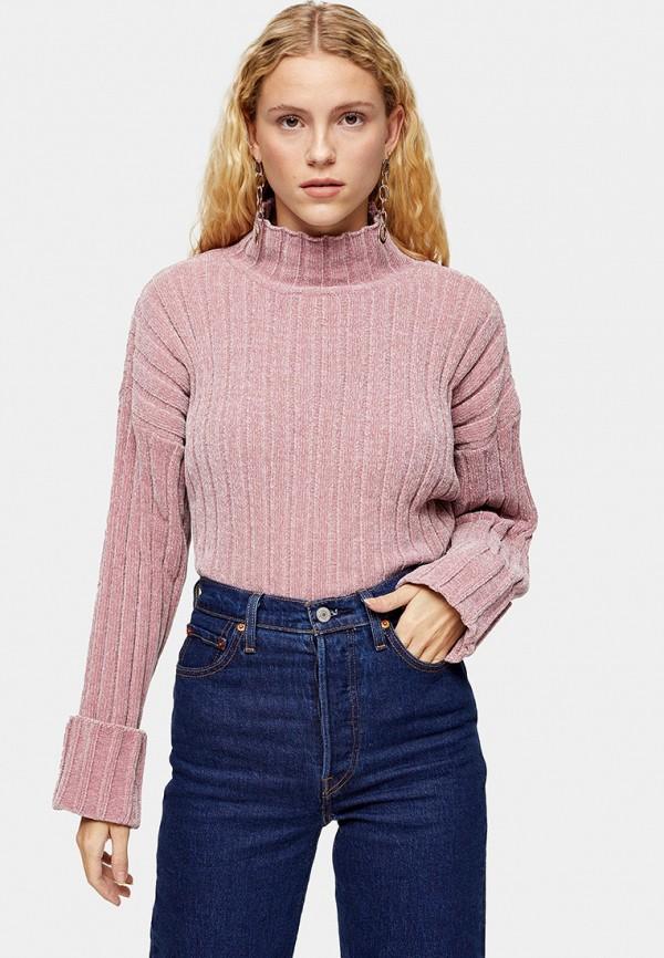женский свитер topshop, розовый
