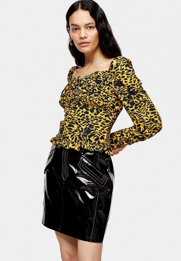 женская блузка topshop, желтая