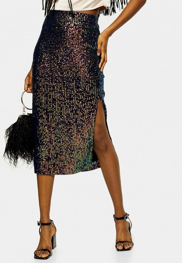 женская зауженные юбка topshop, черная