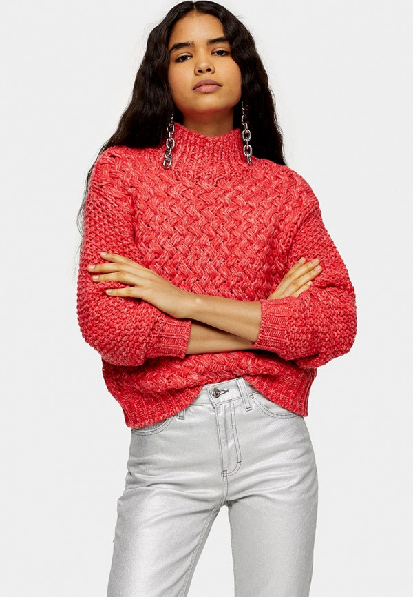 женский свитер topshop, красный