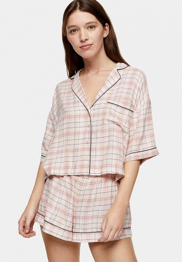 женская пижама topshop, розовая