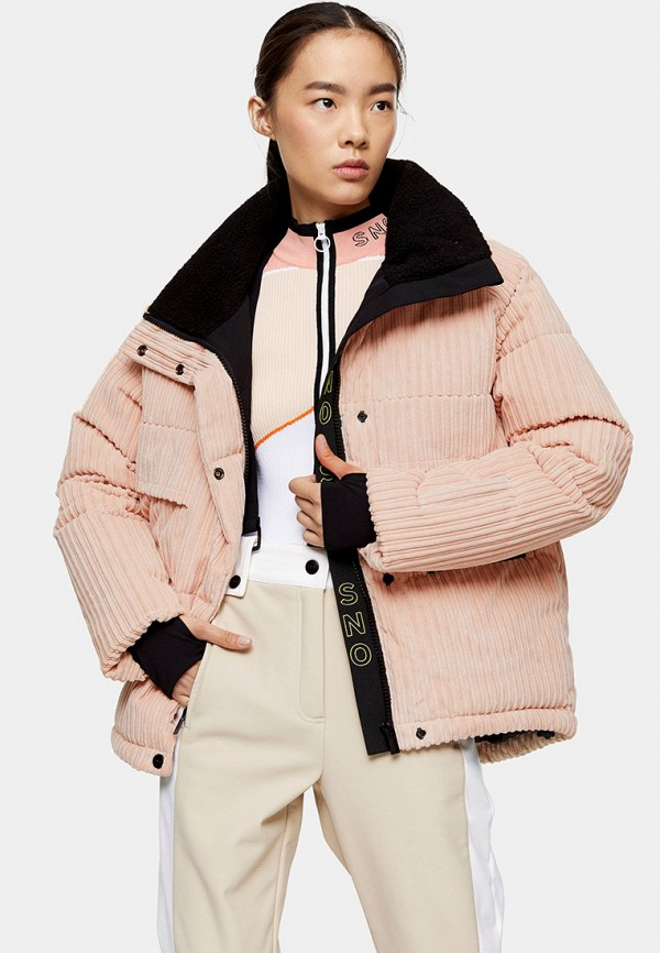 женская куртка topshop, розовая