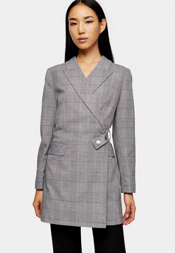 женский пиджак topshop, серый