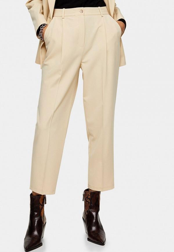 женские классические брюки topshop, бежевые