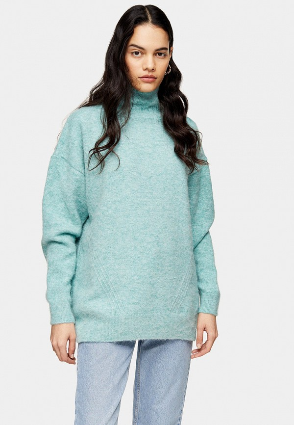 женский свитер topshop, бирюзовый