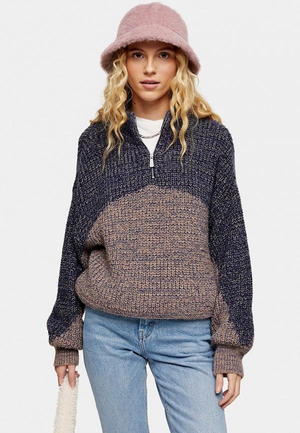 женский свитер topshop, разноцветный