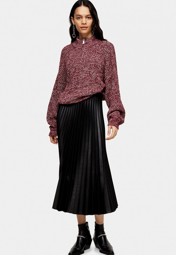 женский свитер topshop, бордовый