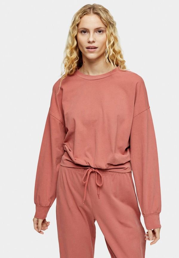 женский свитшот topshop, розовый