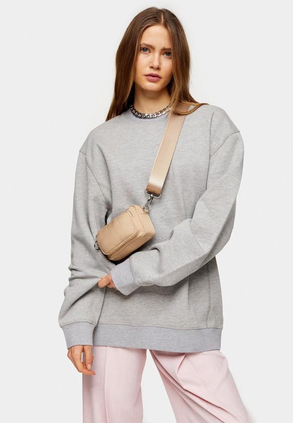 женский свитшот topshop, серый