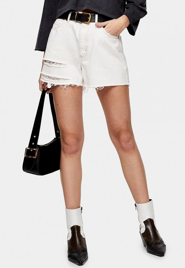 женские джинсовые шорты topshop, белые