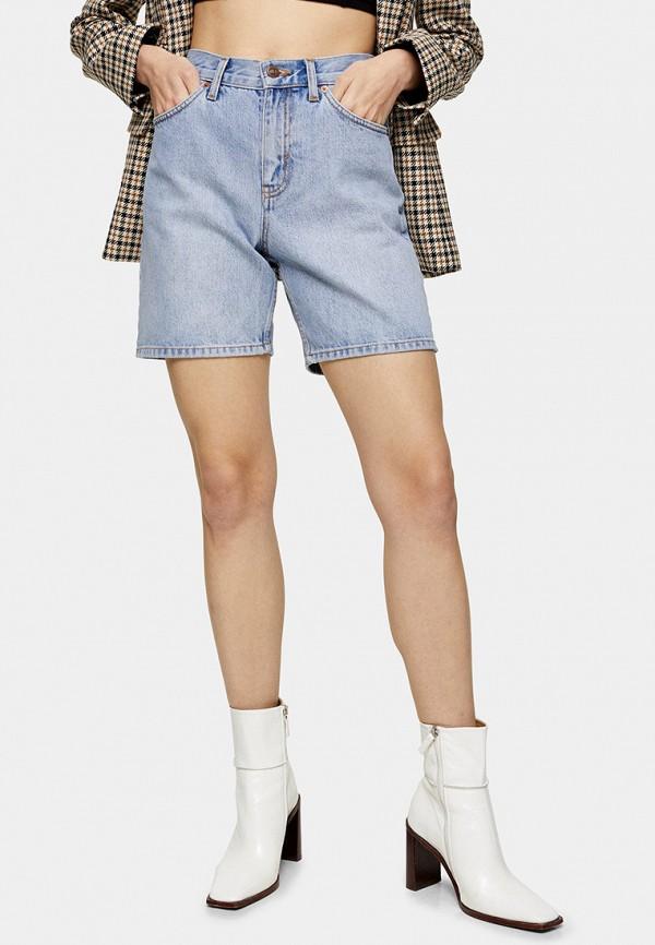 женские джинсовые шорты topshop, голубые