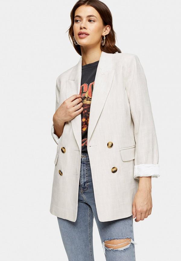 женский пиджак topshop, бежевый