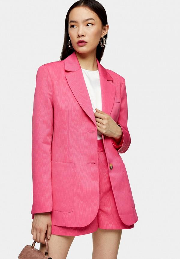 женский пиджак topshop, розовый